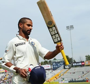 Dhawan received the MOM award. Courtesy: Rediff