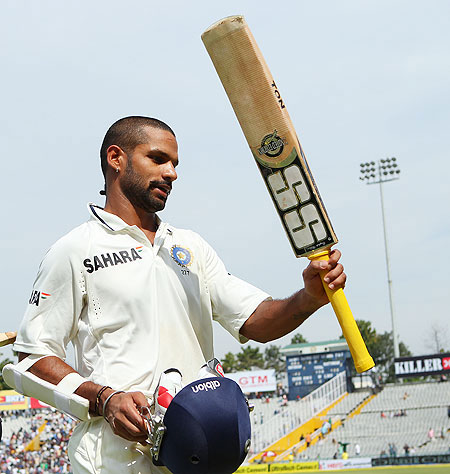 Dhawan made an impressive debut