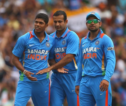 Virat Kohli, Umesh Yadav and Irfan Pathan