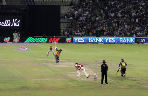 A general view of the Mohali stadium