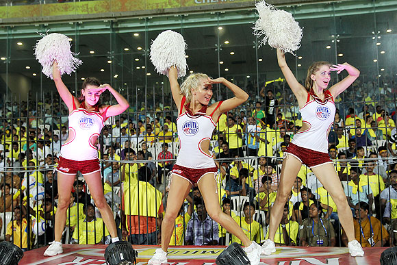 IPL's sultry cheerleaders: Dancing with cricket stars