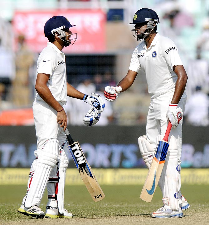 R Ashwin (right) with Rohit Sharma