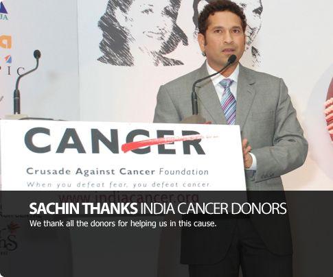Sachin's 200th Test: Cancer foundation to help 200 children