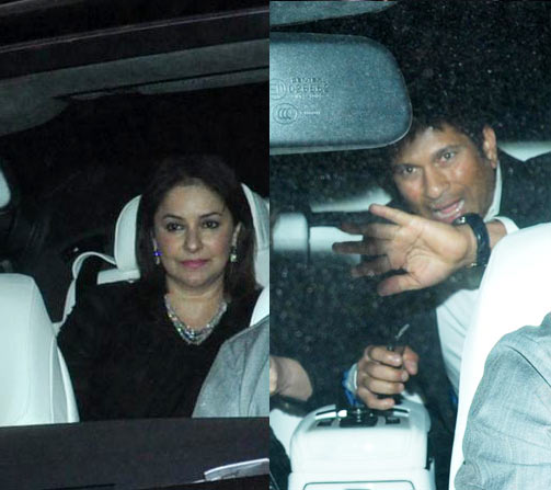 Anjali and Sachin Tendulkar arrive at the venue