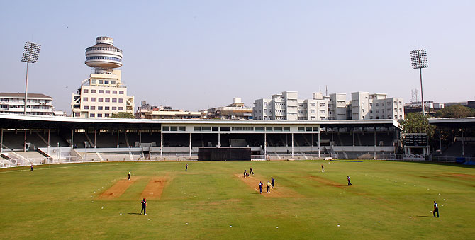 The Brabourne stadium in Mumbai