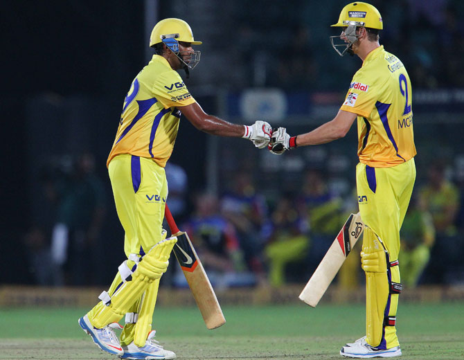 R Ashwin and Chris Morris of Chennai Super Kings