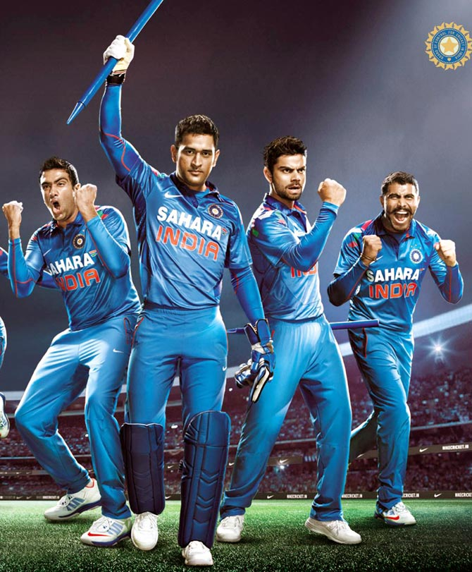 b8f908c9405e PHOTOS  Environment-friendly jerseys for Team India - Rediff Cricket