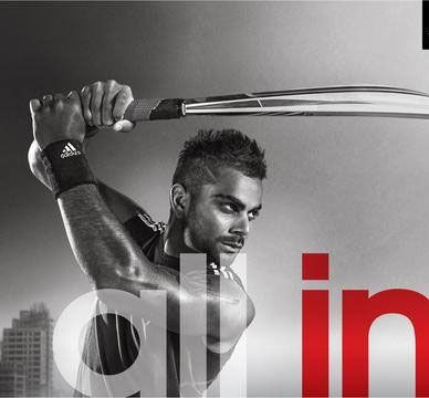 Virat Kohli in an ad for Adidas
