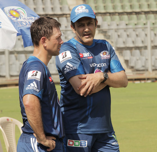 Ricky Ponting and Anil Kumble