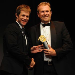 Tony Irish, right, with Jonty Rhodes.