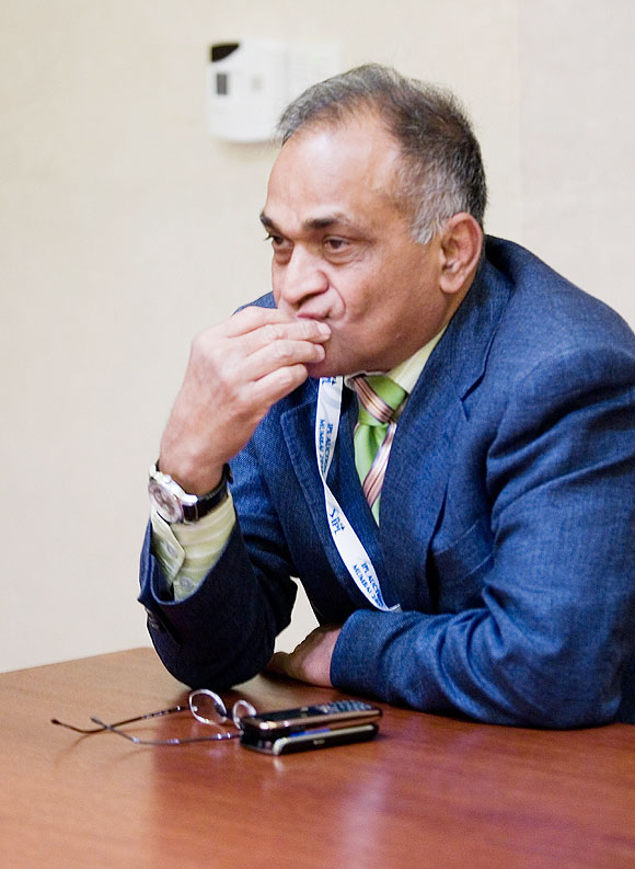 Niranjan Shah, as vice-chairman of the Indian Premier League attends the IPL Auction 2010 on January 19, 2010 in Mumbai