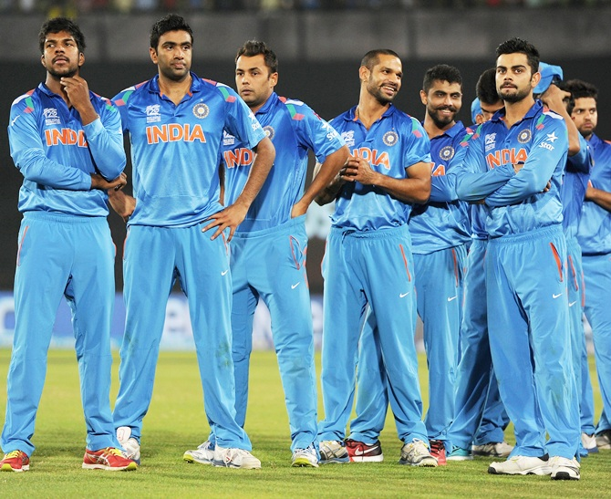 India players react after losing the ICC World Twenty20 final