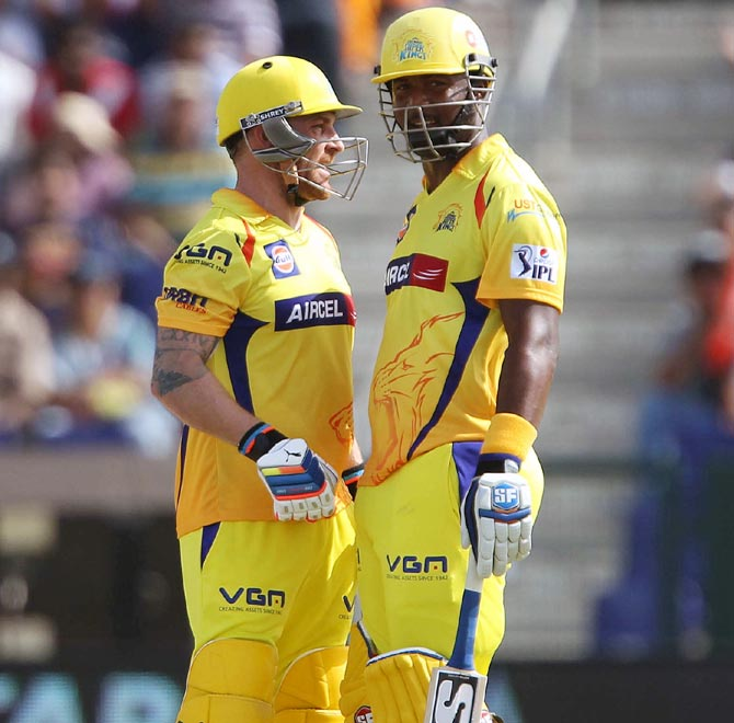 Brendon McCullum and Dwayne Smith