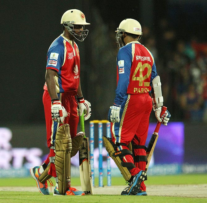 Parthiv Patel (right) and Yogesh Takawale