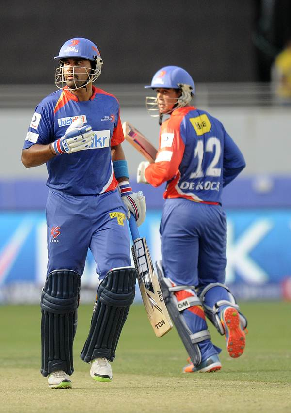 Murali Vijay (left) and Quinton de Kock during their opening partnership