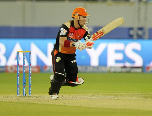 David Warner in action during his 51-ball 65