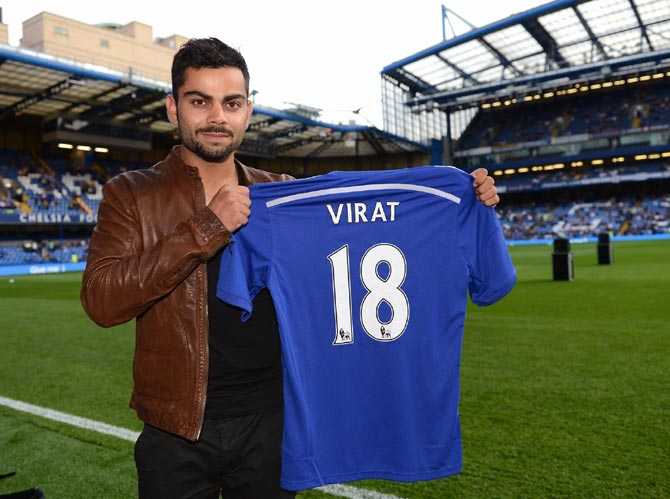 REVEALED! Virat Kohli visits Chelsea to seek inspiration