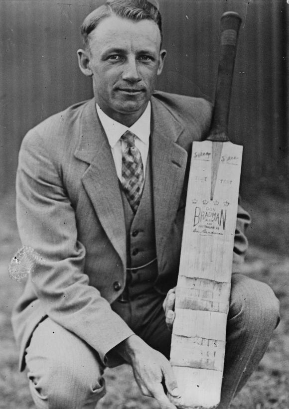 Don Bradman. Photograph: Fox Photos/Getty Images