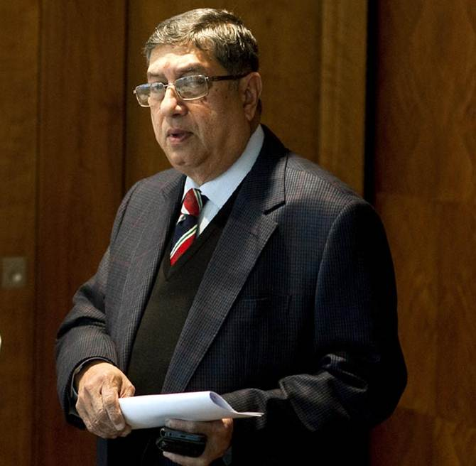 N Srinivasan: 'Conscience is clear; I've not done any wrong'