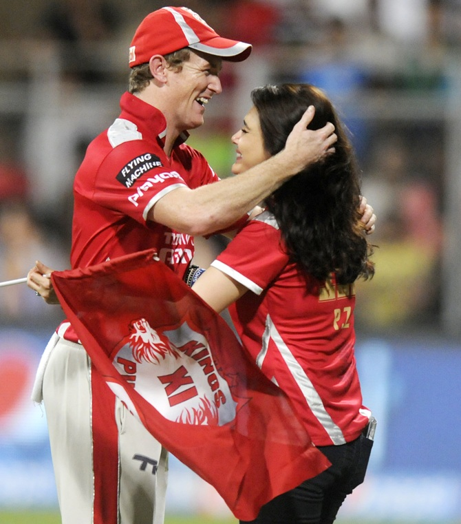 George Bailey with Preity Zinta