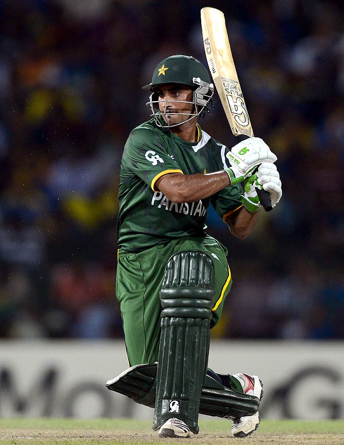 Imran Nazir of Pakistan bats during the 2012 ICC World Twenty20