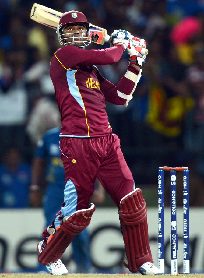 Marlon Samuels of the West Indies bats during the 2012 ICC World Twenty20