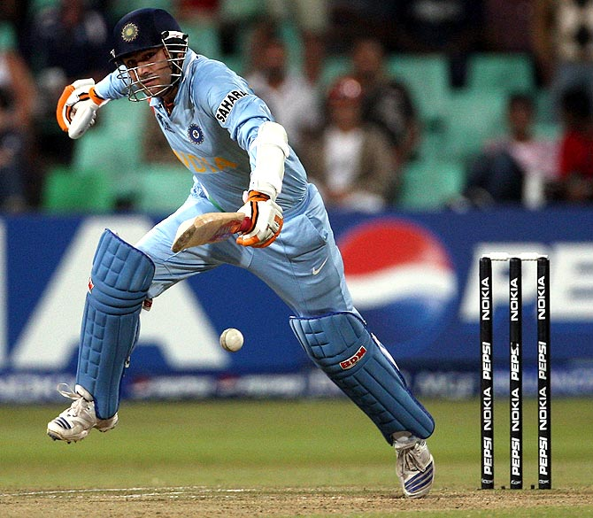 Virender Sehwag in the game against England at Kingsmead.