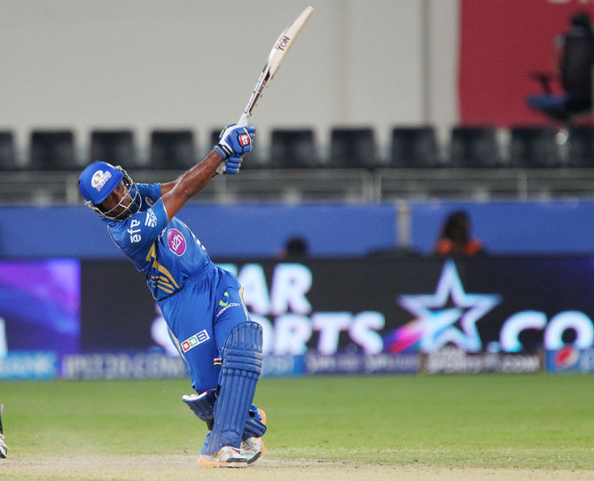 Ambati Rayudu of Mumbai Indians hits a shot