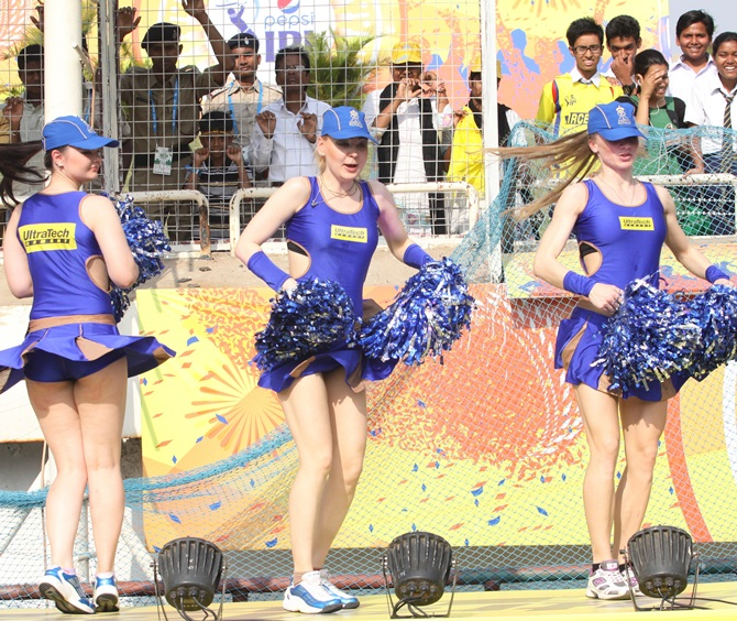 IPL PHOTOS: Why the cheergirls ran for cover...