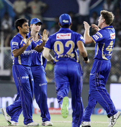 PHOTOS: Rajasthan thump Delhi, move closer to play-off berth