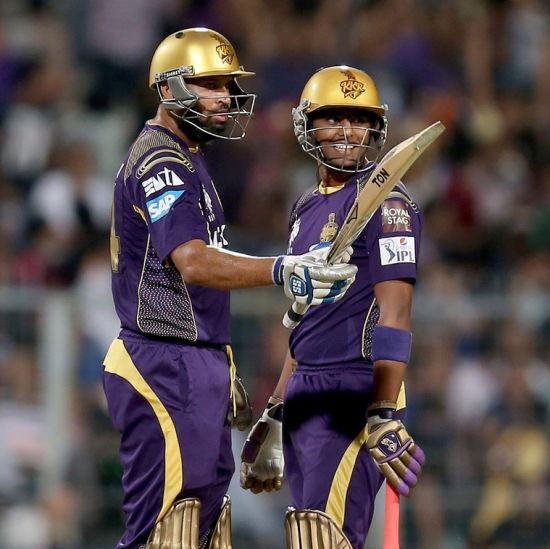 Yusuf Pathan (left) with a teammate