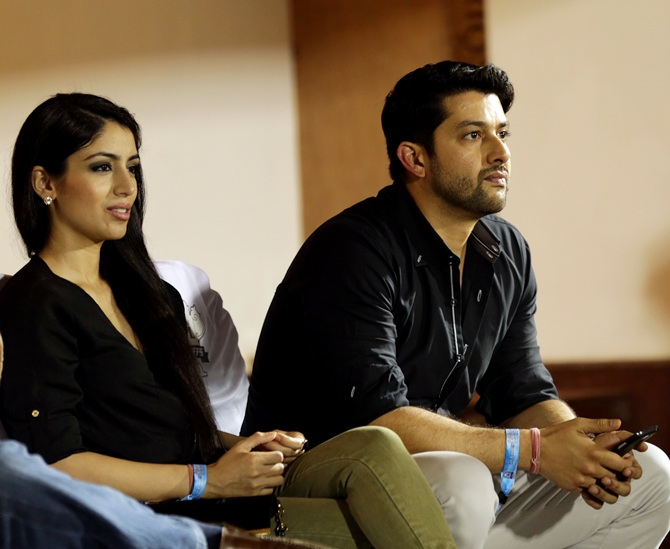 Aftab Shivdasani with his wife Nin Dusanj