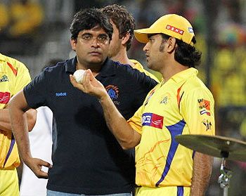 Gurunath Meiyappan with MS Dhoni