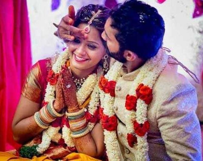 e8168730ba Dipika Pallikal's BEST bridal look: sari or gown? Vote! - Rediff Sports