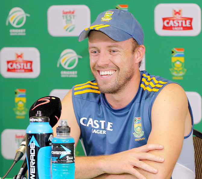 Captain of South Africa AB de Villiers