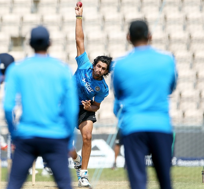 Ishant Sharma at a nets session