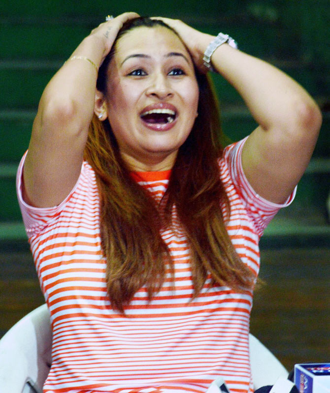 Shuttler Jwala Gutta at a press conference at LB Indoor Stadium in Hyderabad on Wednesday