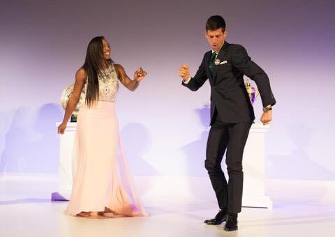 Serena Williams and Novak Djokovic let loose at the Wimbledon Champions Dinner