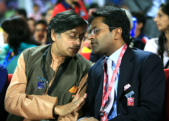 Shashi Tharoor and Lalit Modi