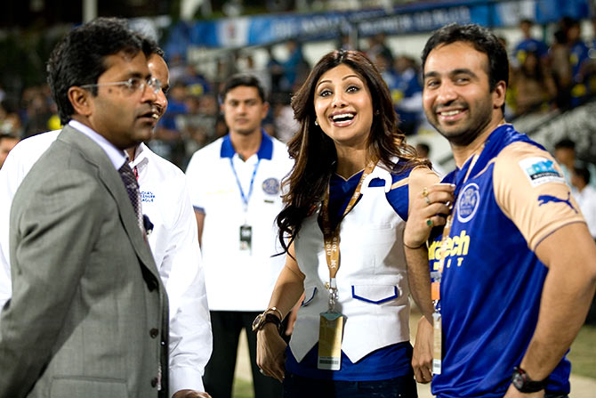 Lalit Modi, Shilpa Shetty and Raj Kundra