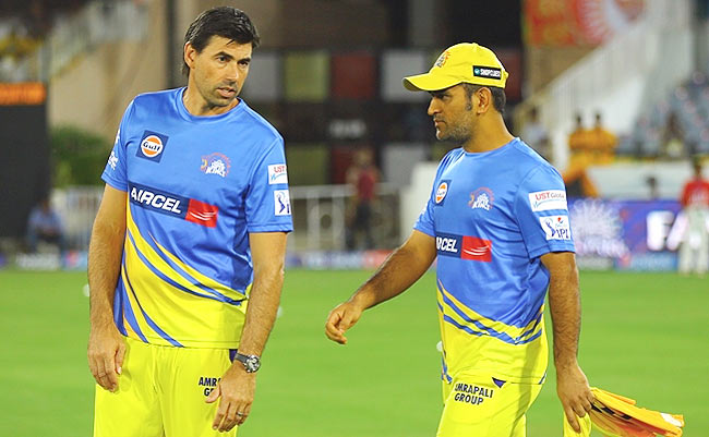 fleming with dhoni