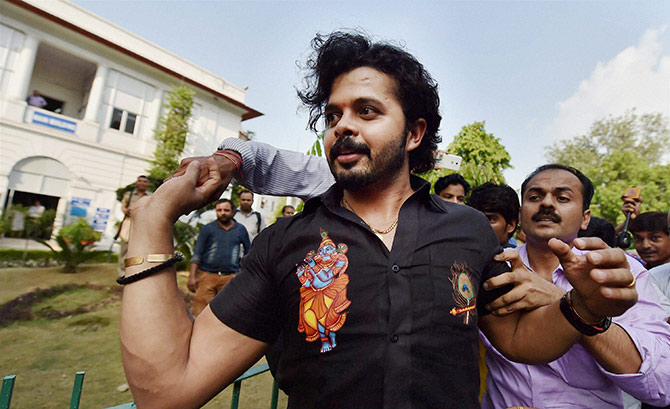 'It cannot be said that Sreesanth was indulging in unlawful activity'