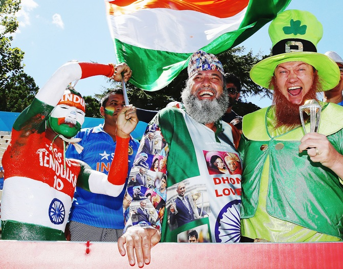 Indian and Irish fans