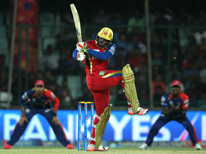 Royal Challengers Bangalore's West Indian opening batsman Chris Gayle