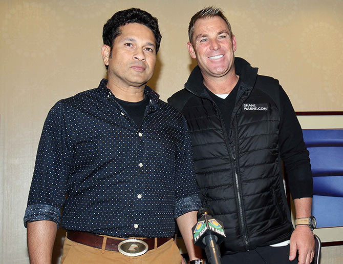 Rediff Cricket - Indian cricket - Warne reveals of conflict of opinion with Sachin over exhibition T20s