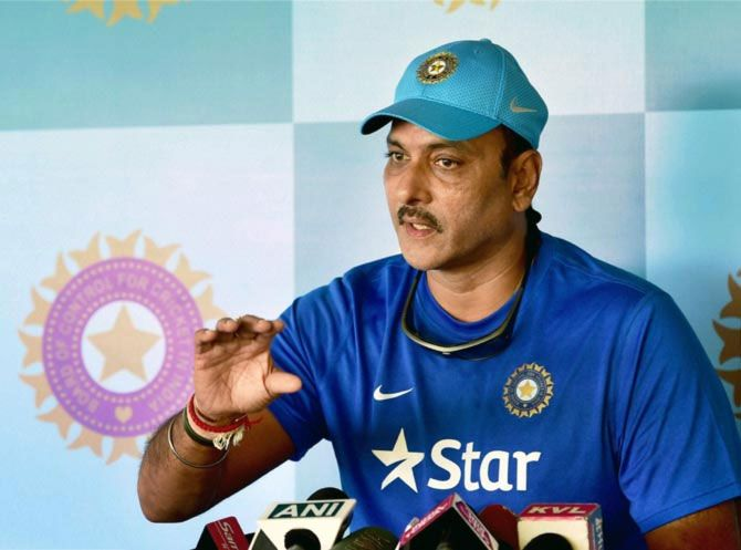 Ravi Shastri lashed out at critics who panned India's spin-friendly pitches for the South African series, which India won 3-0. Photograph: PTI