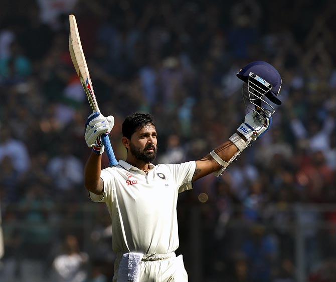 India opener Murali Vijay scored a second century against England in the series, scoring 136 on Day 3 of the 4th Test in Mumbai on Saturday