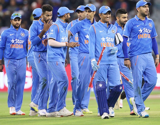 Indian players celebrate a win