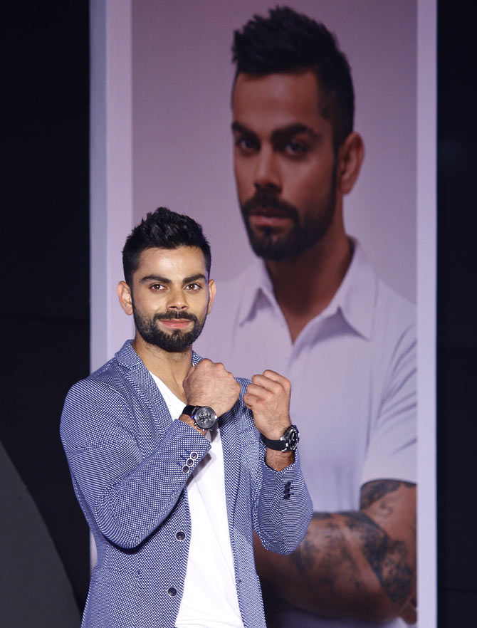 Virat Kohli unveiled as the Indian male brand ambassador for Swiss watch manufacturer TISSOT
