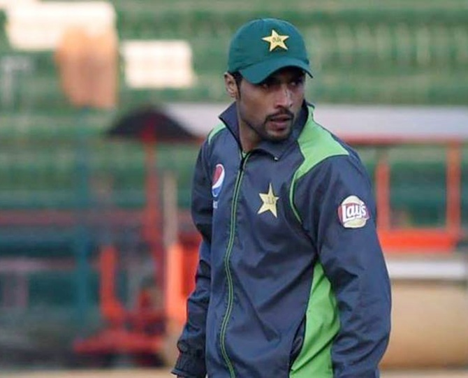 Pakitan's Mohammad Amir during nets session